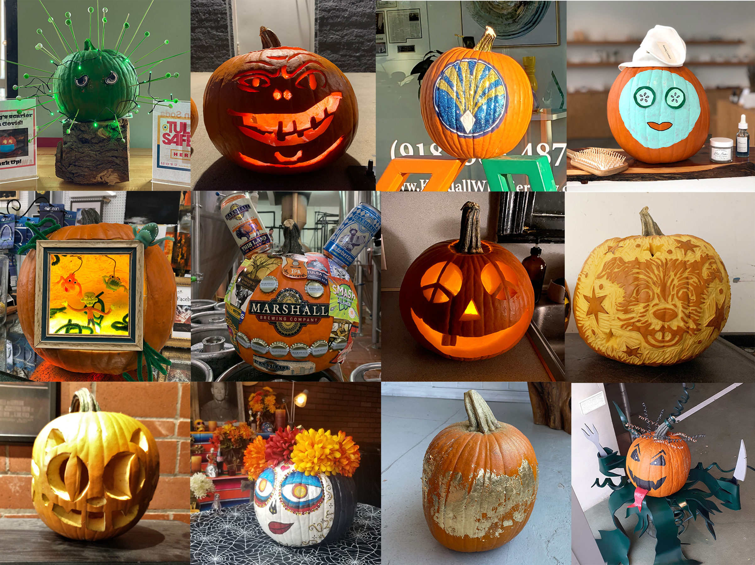 Businesses get creative with pumpkins this October