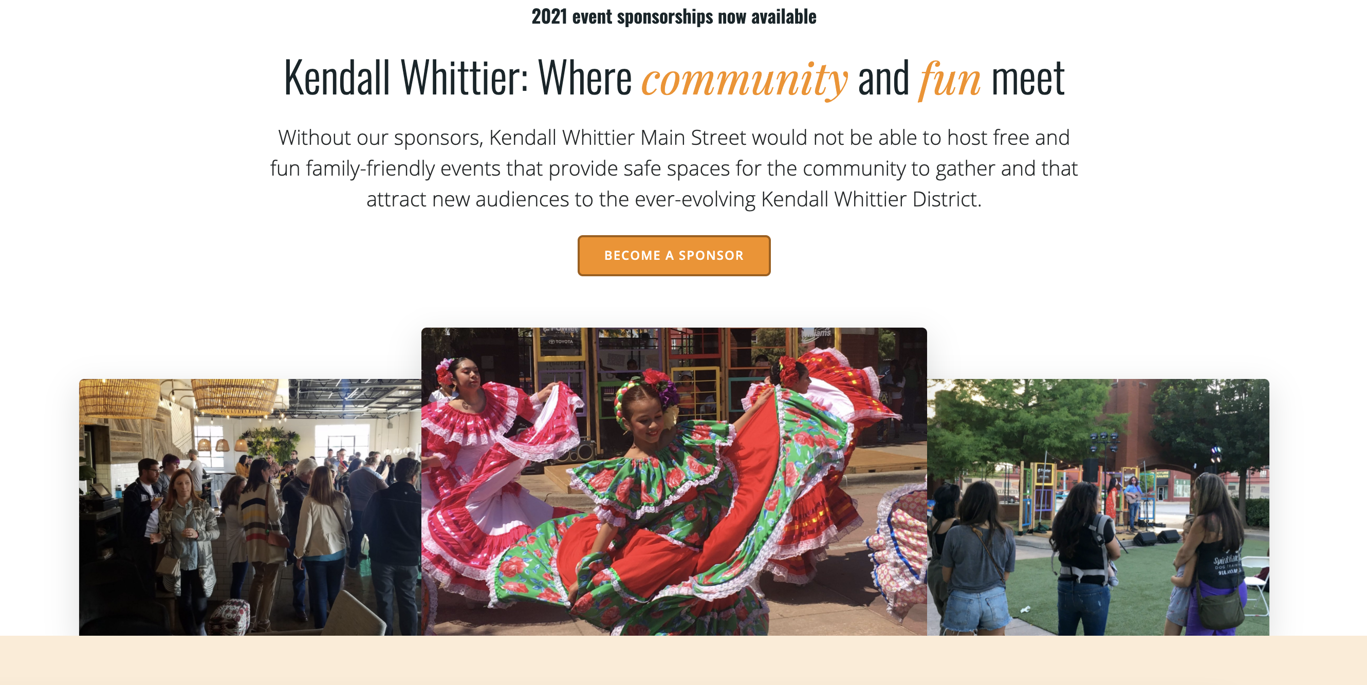 Kendall Whittier seeks sponsors for 2021 events